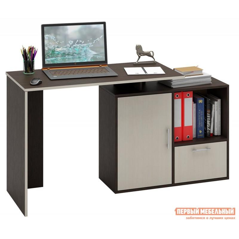 Письменный стол  Слим-3 / Слим-4 Венге / Дуб Молочный, 1030 мм