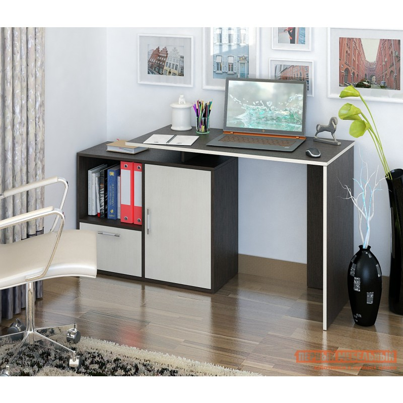 Письменный стол  Слим-3 / Слим-4 Венге / Дуб Молочный, 1030 мм (фото 3)