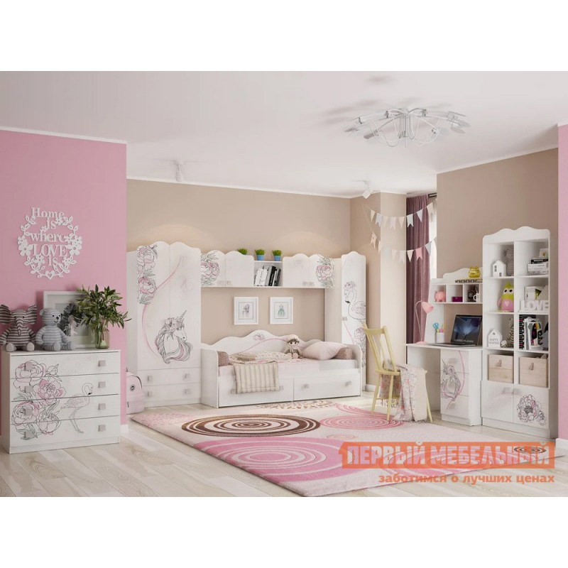 Комплект детской мебели  Фэнтези К1 Белый Рамух