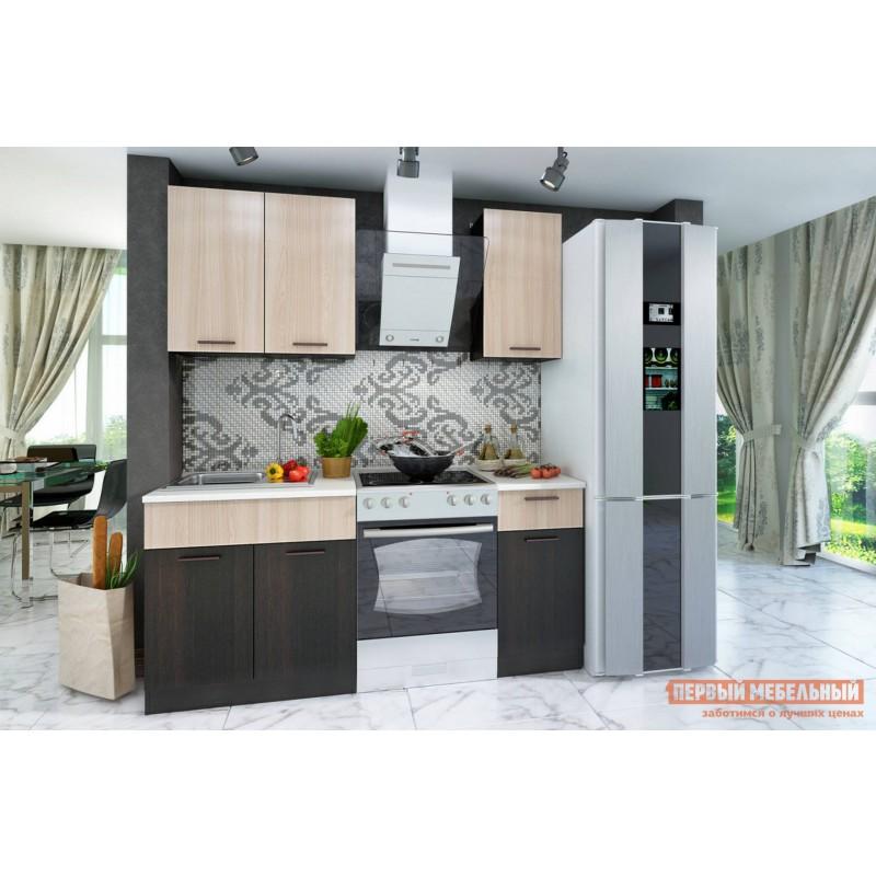 Кухонный гарнитур  Дуэт 1.2 м Дуб феррара / Ясень шимо светлый