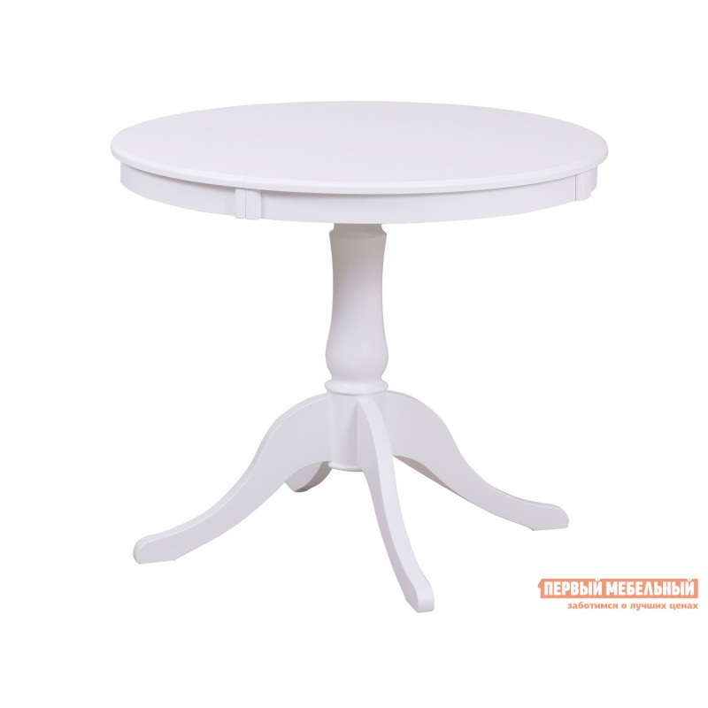 Кухонный стол  Стол Амадей 1,3 Белый матовый