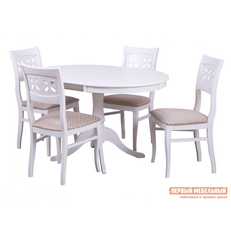 Кухонный стол  Стол Амадей 1,3 Белый матовый (фото 3)