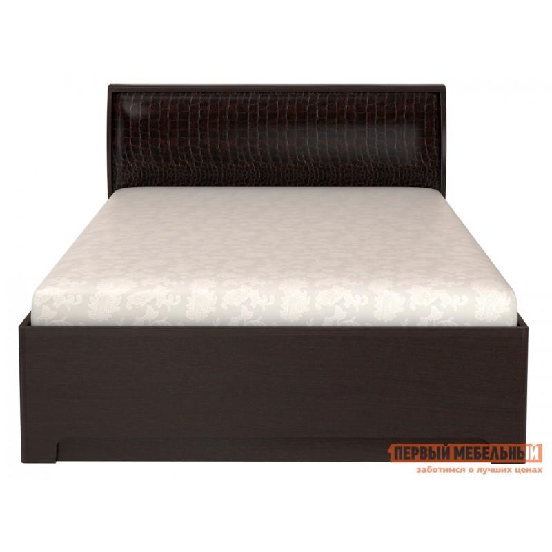 Двуспальная кровать  Парма 3 Венге / Искусственная кожа caiman, 180х200 см, С подъемным механизмом (фото 3)