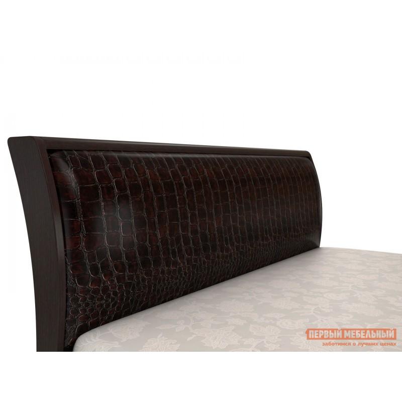 Двуспальная кровать  Парма 3 Венге / Искусственная кожа caiman, 180х200 см, С подъемным механизмом (фото 6)