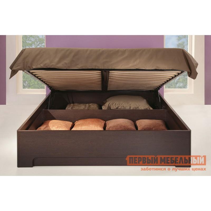 Двуспальная кровать  Парма 3 Венге / Искусственная кожа caiman, 180х200 см, С подъемным механизмом (фото 7)