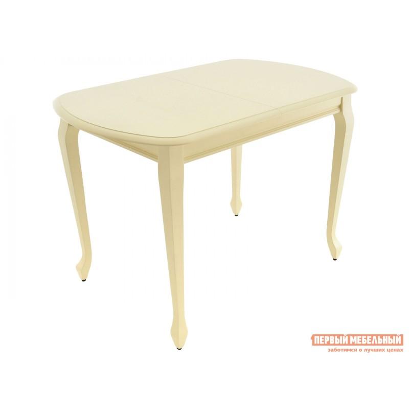 Кухонный стол  Стол раздвижной Прага Тон 10, Слоновая кость, Большой