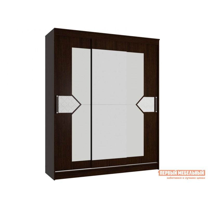 Шкаф-купе  Шкаф 3-х створчатый с зеркалом Вероника Венге / Лиственница светлая