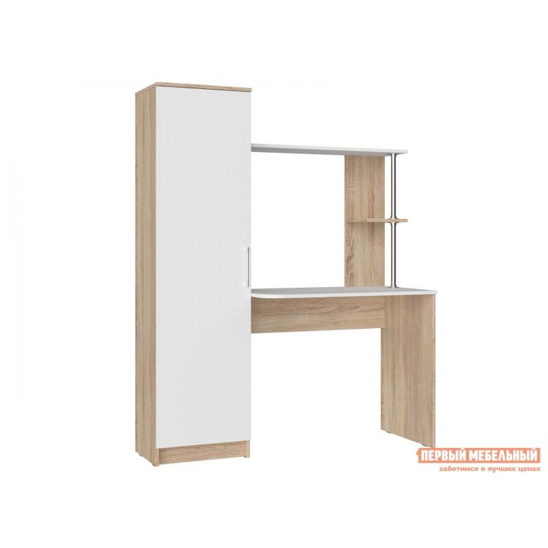 Компьютерный стол  Стол письменный Стенли Дуб Сонома / Белый