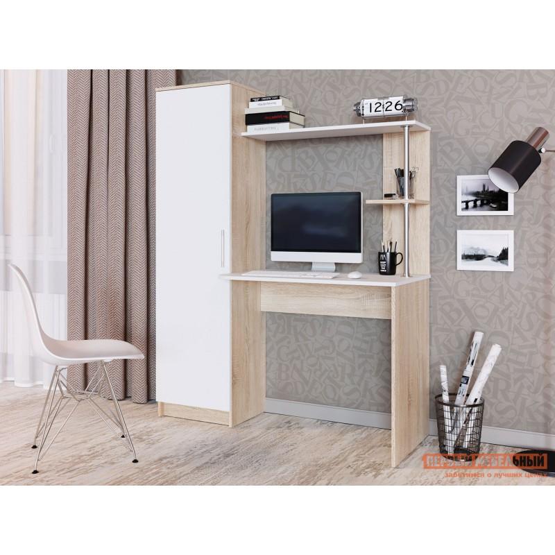 Компьютерный стол  Стол письменный Стенли Дуб Сонома / Белый (фото 3)