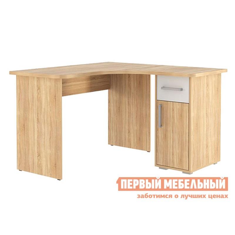 Письменный стол  Лайт-1 угловой Дуб сонома / Белый