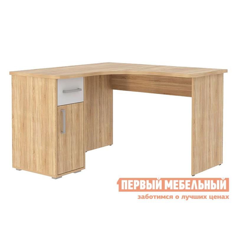 Письменный стол  Лайт-1 угловой Дуб сонома / Белый (фото 2)