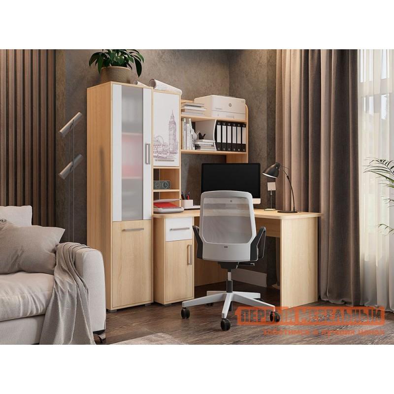 Письменный стол  Лайт-1 угловой Дуб сонома / Белый (фото 3)