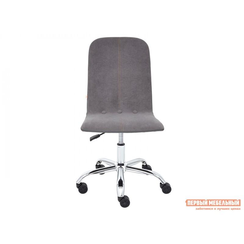 Офисное кресло  Офисное кресло RIO Серый, флок / Серый, кожзам (фото 2)