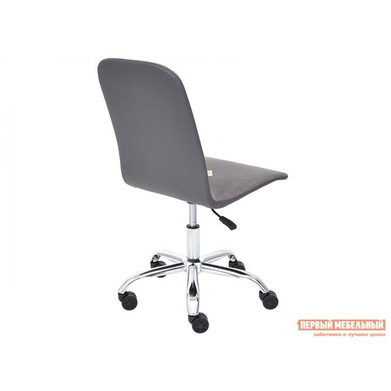 Офисное кресло  Офисное кресло RIO Серый, флок / Серый, кожзам (фото 4)