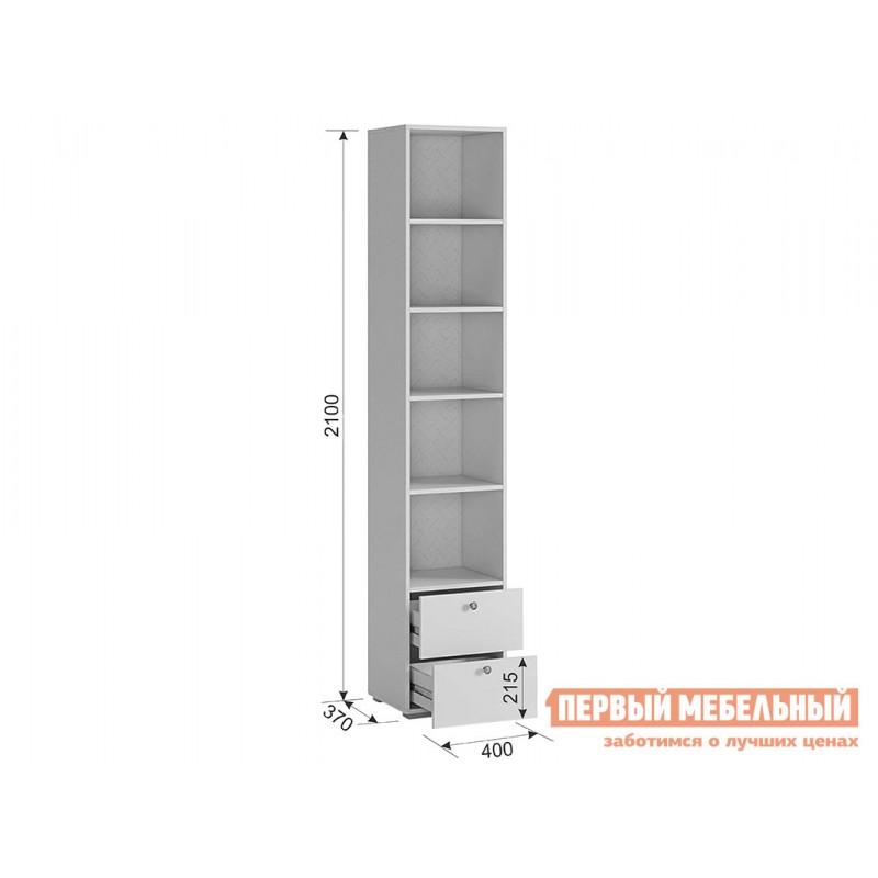 Детский шкаф  Гламур Шкаф комбинированный Белый / Белый глянец (фото 7)