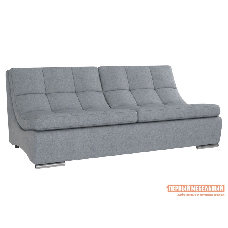 Прямой диван  Сан-Диего Серо-голубой, рогожка