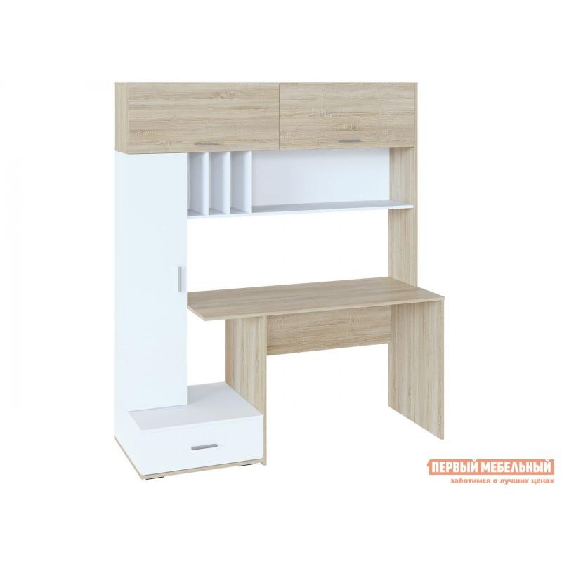 Компьютерный стол  КСТ-17 Дуб Сонома / Белый