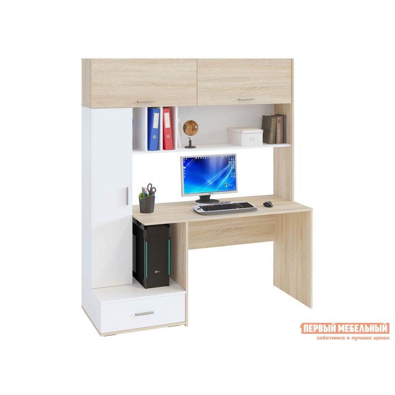 Компьютерный стол  КСТ-17 Дуб Сонома / Белый (фото 2)