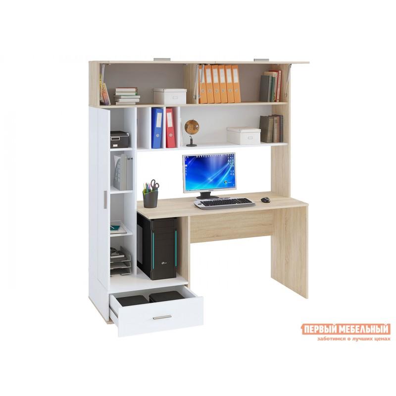Компьютерный стол  КСТ-17 Дуб Сонома / Белый (фото 3)