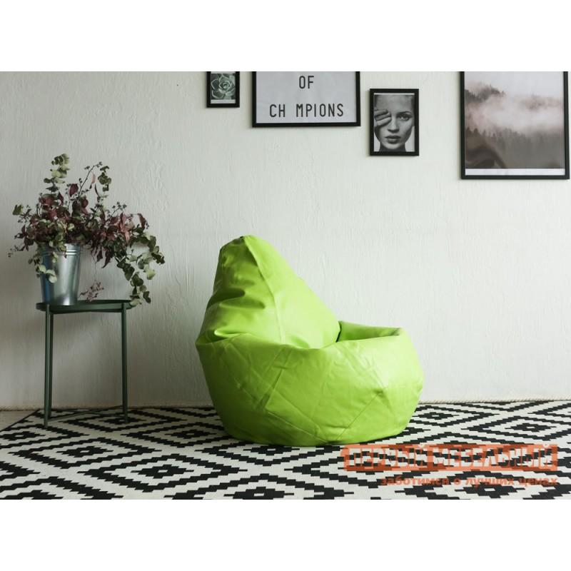 Кресло-мешок  Кресло-мешок Ашли Салатовая экокожа, 3XL (фото 2)