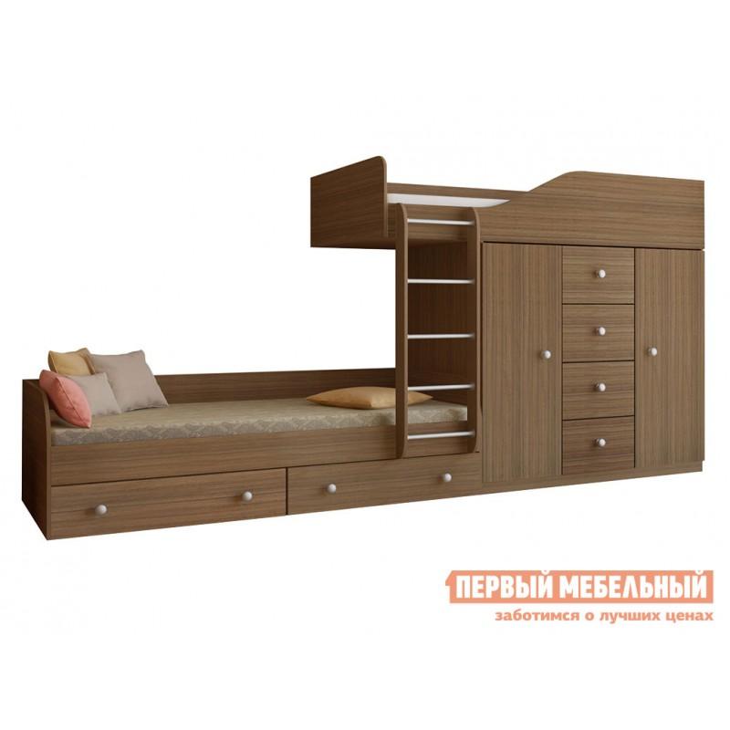Кровать  Двухъярусная кровать Астра-6 Дуб Шамони