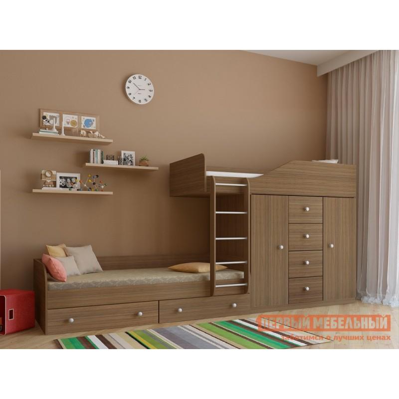 Кровать  Двухъярусная кровать Астра-6 Дуб Шамони (фото 2)