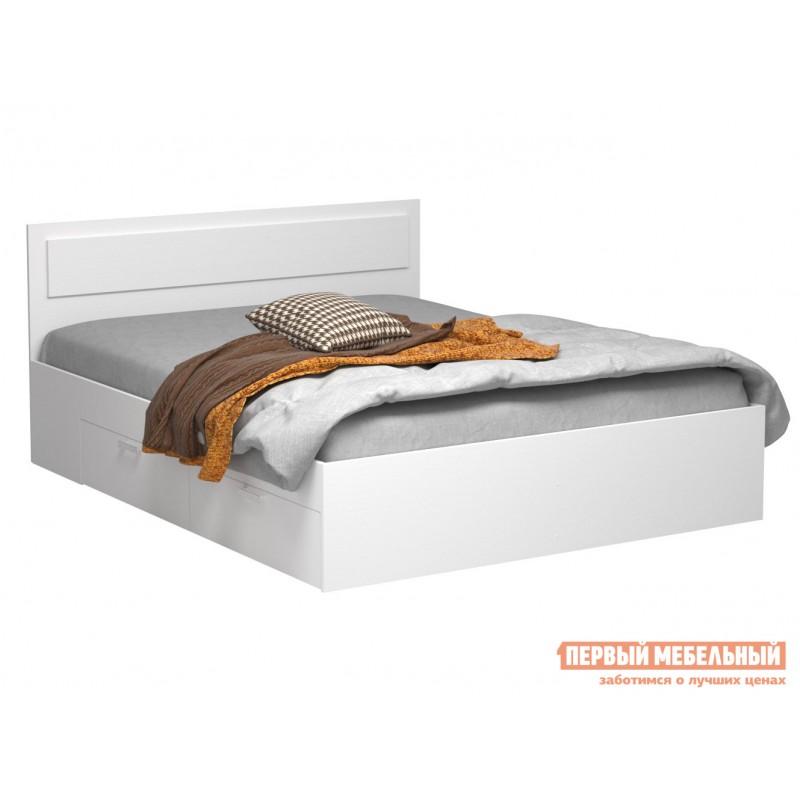 Односпальная кровать  Кровать Жаклин с ящиками Белый, 900 Х 2000 мм