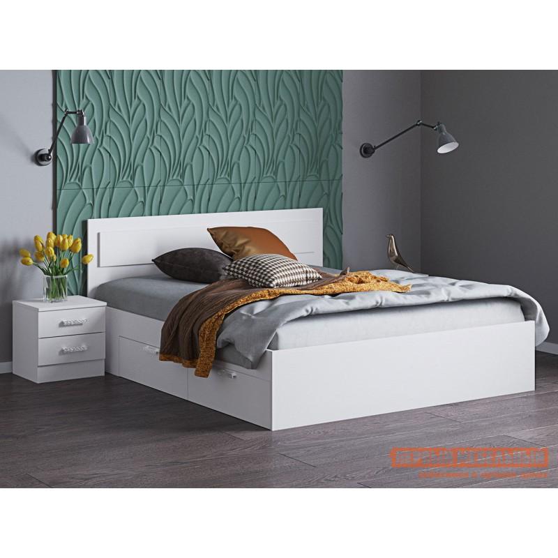 Односпальная кровать  Кровать Жаклин с ящиками Белый, 900 Х 2000 мм (фото 2)