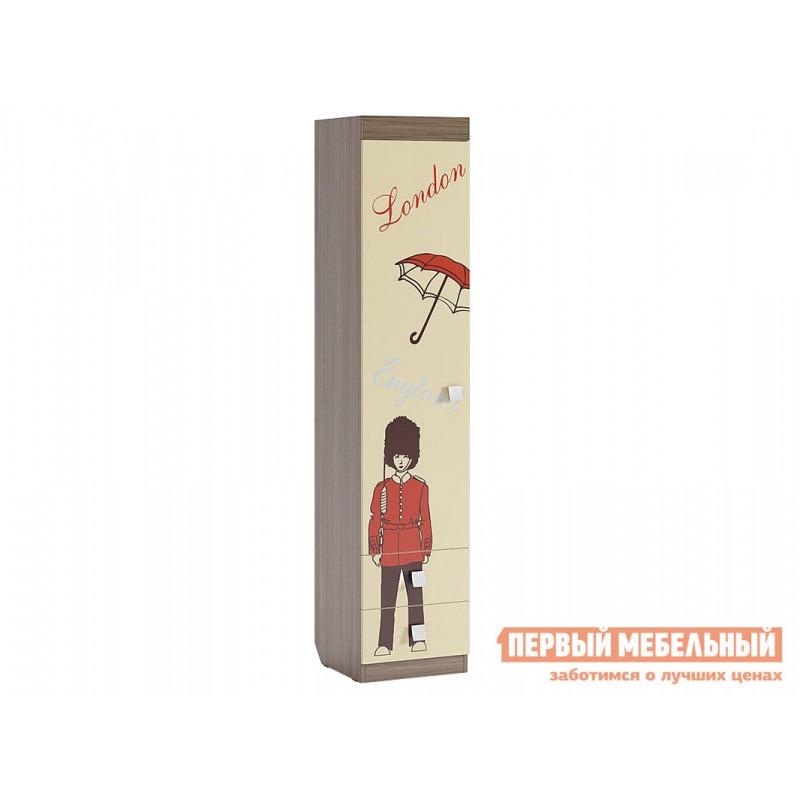 Детский шкаф  Челси Шкаф комбинированный (с ящ. 1-створчатый) Ясень Шимо темный / Крем