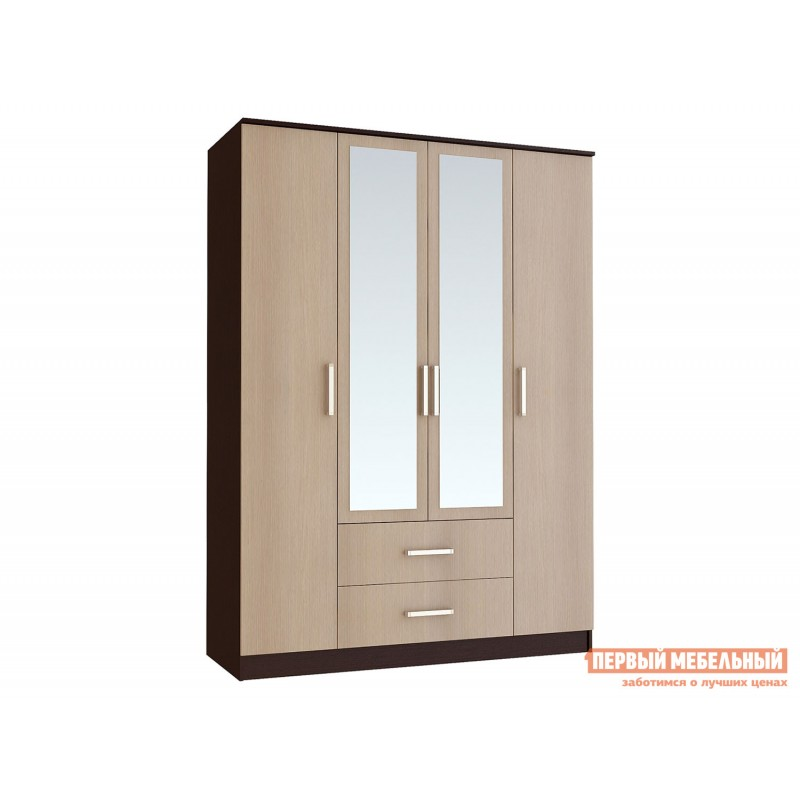 Распашной шкаф  Фиеста Ш4 Венге / Лоредо