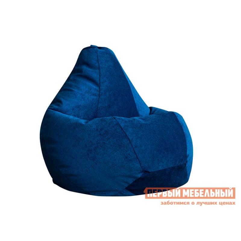 Кресло-мешок  Кресло-мешок Микровельвет Синий микровельвет, 3XL