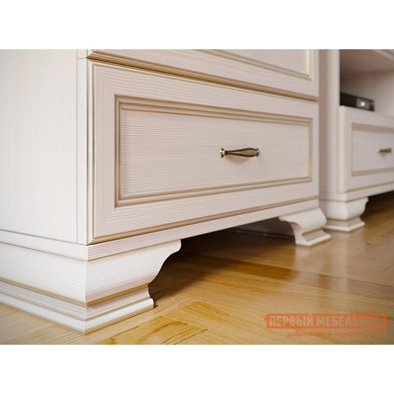 Стеллаж  Шкаф-стеллаж 600 Сиена Бодега белый, патина золото, Большой (фото 3)