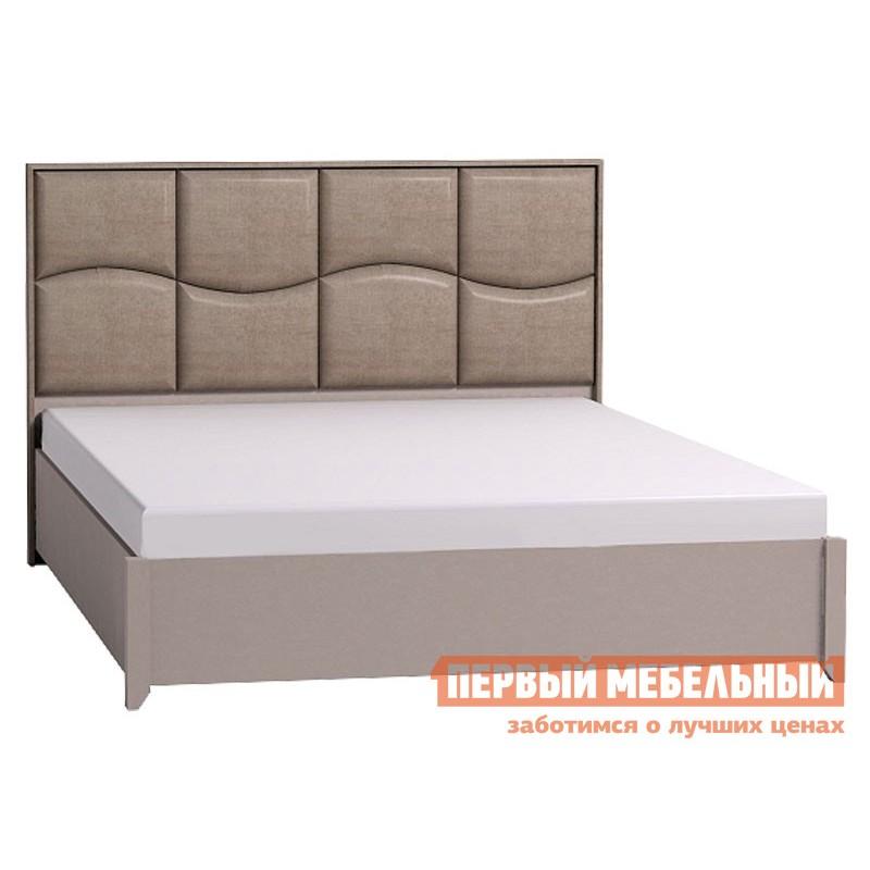 Двуспальная кровать  Брауни 307 Мокко / Коричневый, микрофибра, С подъемным механизмом