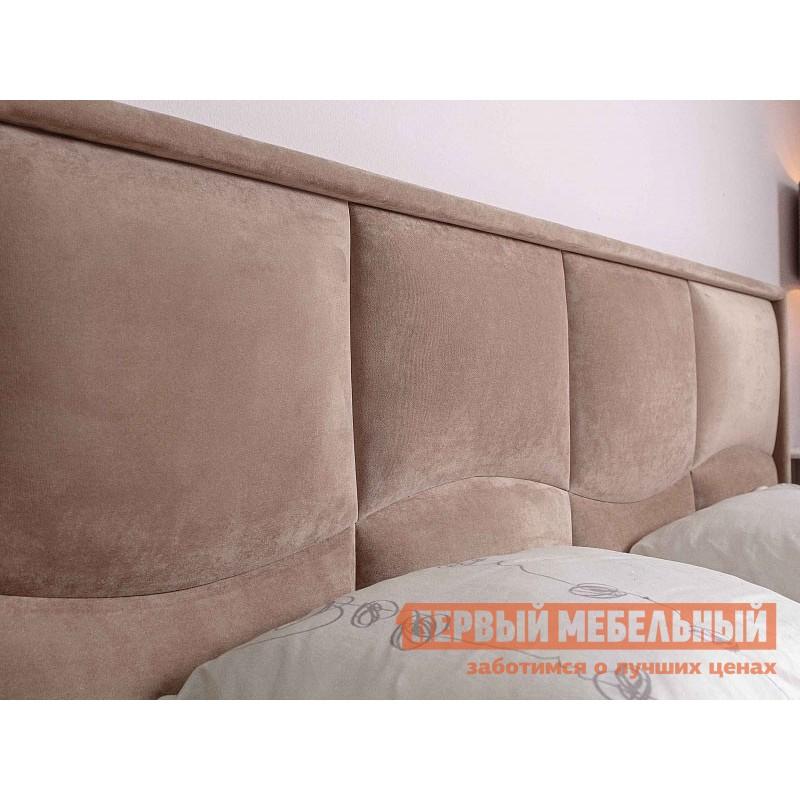 Двуспальная кровать  Брауни 307 Мокко / Коричневый, микрофибра, С подъемным механизмом (фото 2)