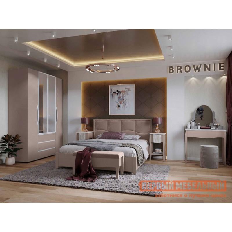Двуспальная кровать  Брауни 307 Мокко / Коричневый, микрофибра, С подъемным механизмом (фото 4)