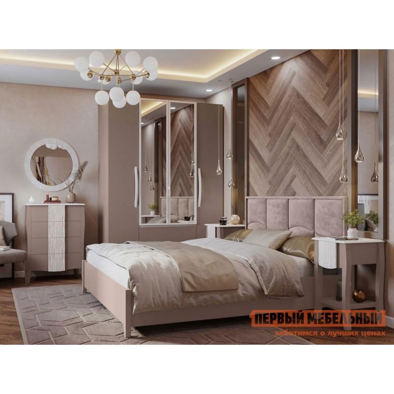 Двуспальная кровать  Брауни 307 Мокко / Коричневый, микрофибра, С подъемным механизмом (фото 5)