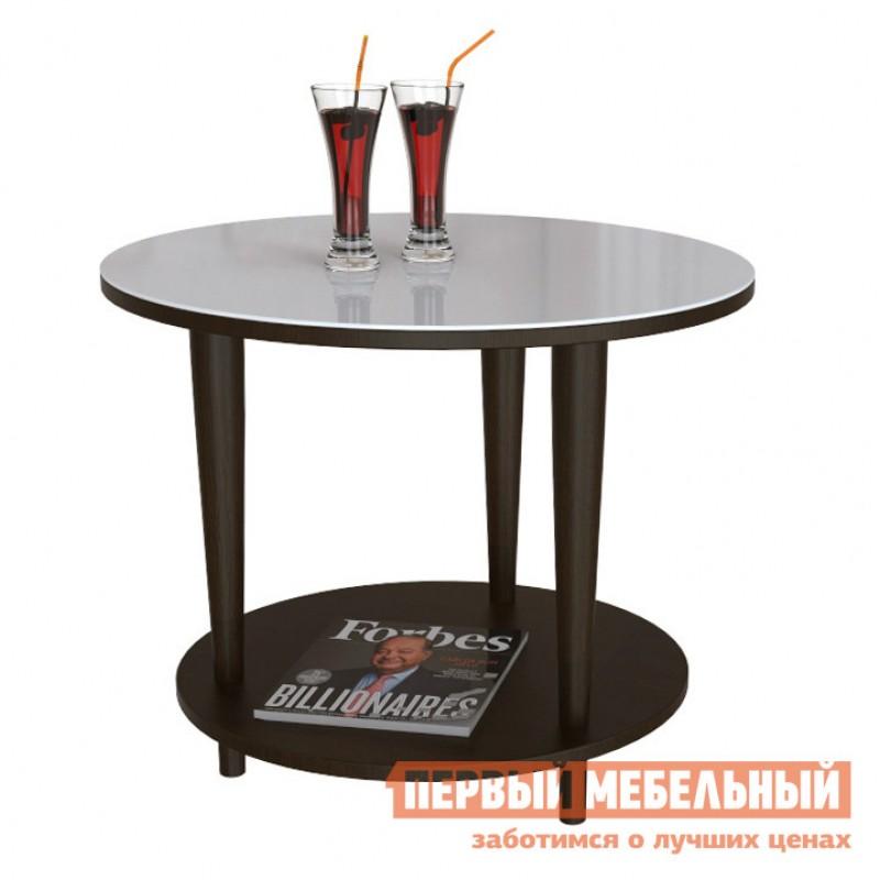 Журнальный столик  BeautyStyle 10 Венге / Стекло белое