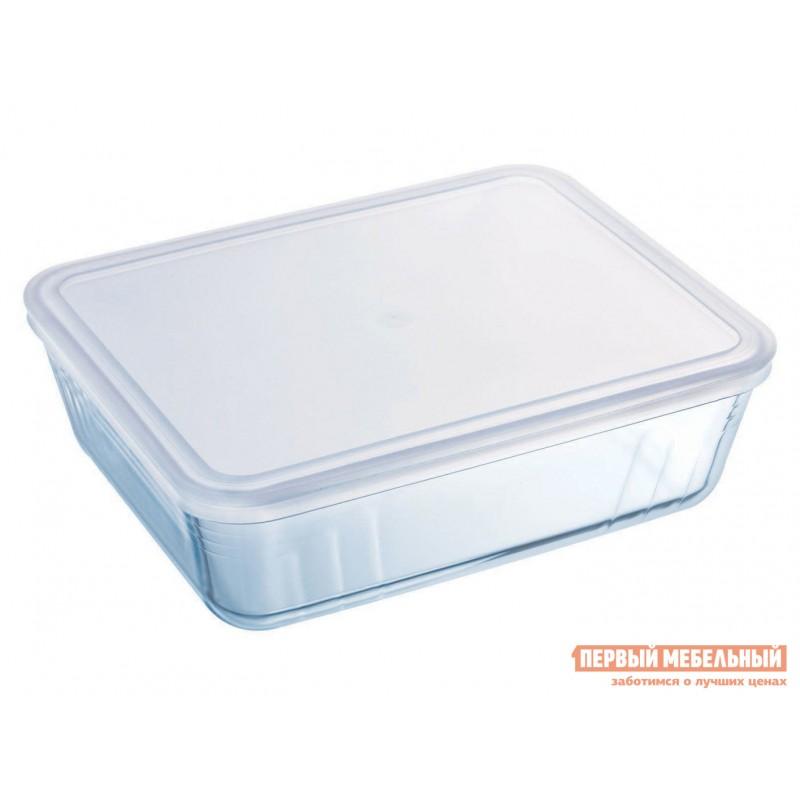 Форма для выпечки  Контейнер с крышкой Cook Freez 22x17x6см 1.5л прямоугольный Стекло