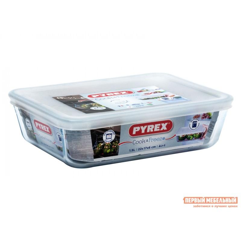Форма для выпечки  Контейнер с крышкой Cook Freez 22x17x6см 1.5л прямоугольный Стекло (фото 3)
