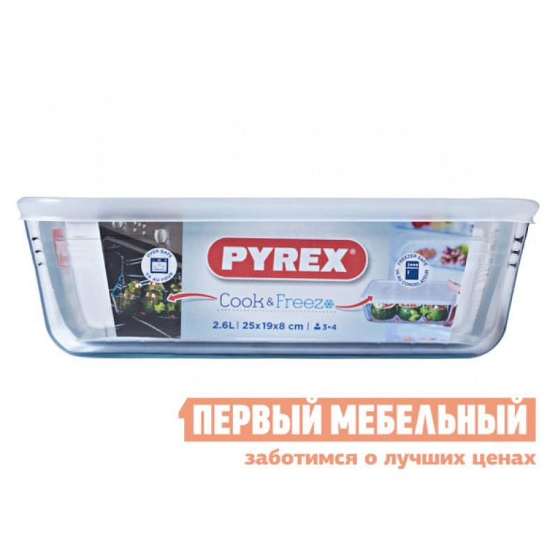 Форма для выпечки  Контейнер с крышкой Cook Freez 22x17x6см 1.5л прямоугольный Стекло (фото 4)