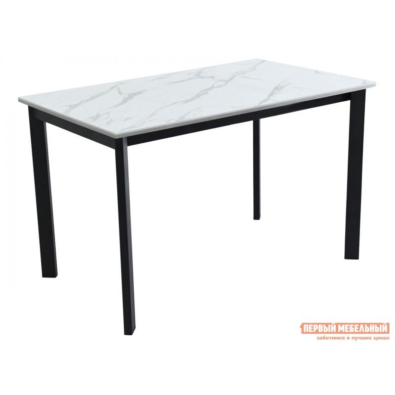 Кухонный стол  Пуэрто Белый камень / Черный муар