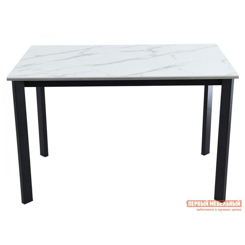 Кухонный стол  Пуэрто Белый камень / Черный муар (фото 2)
