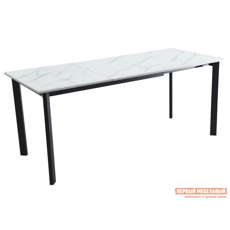Кухонный стол  Пуэрто Белый камень / Черный муар (фото 3)