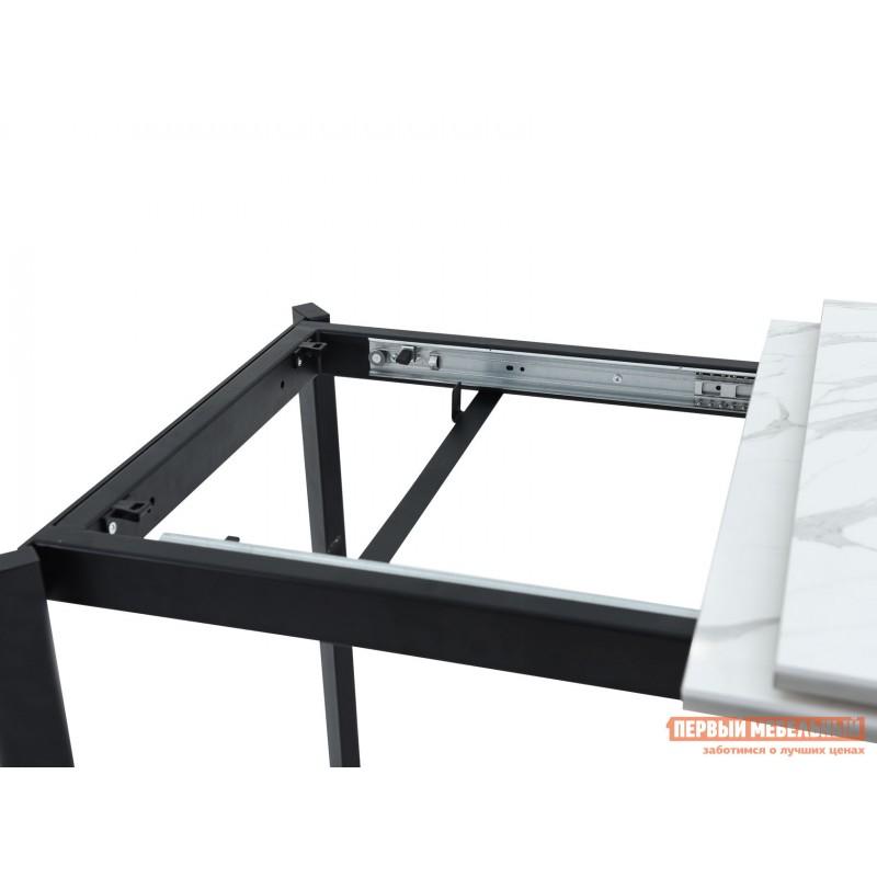 Кухонный стол  Пуэрто Белый камень / Черный муар (фото 7)