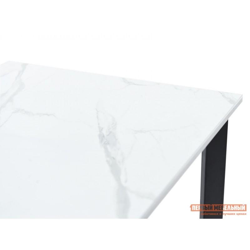 Кухонный стол  Пуэрто Белый камень / Черный муар (фото 8)