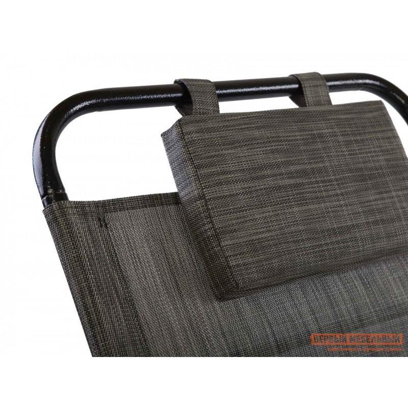 Шезлонг  KEMER Черный, металл / Серый, текстилен (фото 3)