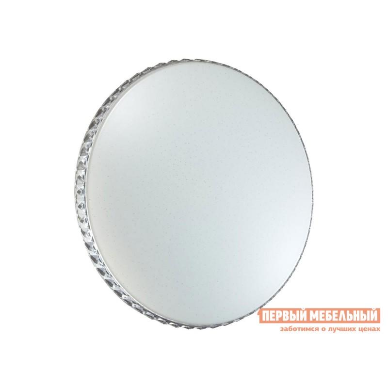 Люстра  2077/EL SN 065 Светильник пластик LED 72Вт 3000-6000K D500 IP43 пульт ДУ Dina Белый / Прозрачный