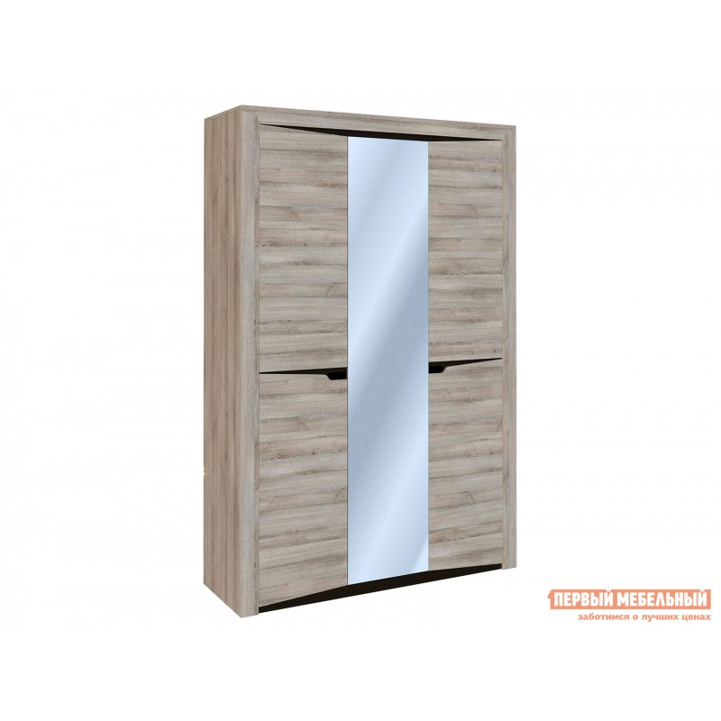 Шкаф распашной  Шкаф 3-х дверный Гарда Ясень Таормино, Без полок