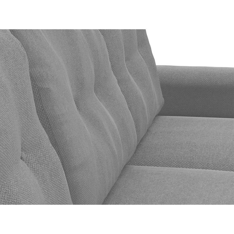 Угловой диван  Диван Дискавери Люкс угловой Серый, велюр (фото 8)