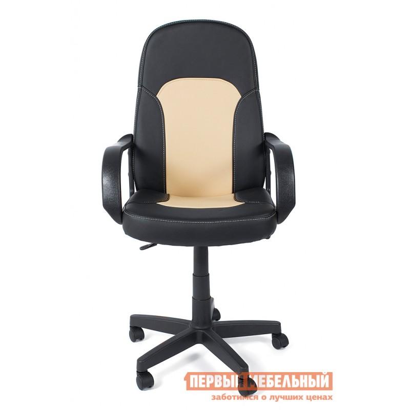Кресло руководителя  Parma Иск. кожа черный / бежевый, 36-6/36-34 (фото 2)
